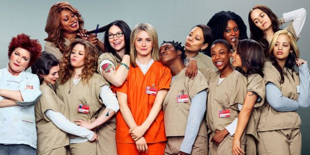 L'équipe d'actrices jouant dans Orange is the New black